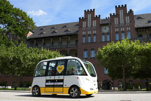 Driverless Minibusses on Charité Campus