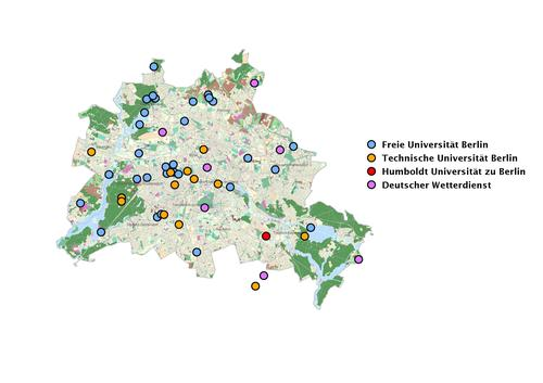 Making weather measurable: 53 monitoring stations are located across Berlin.