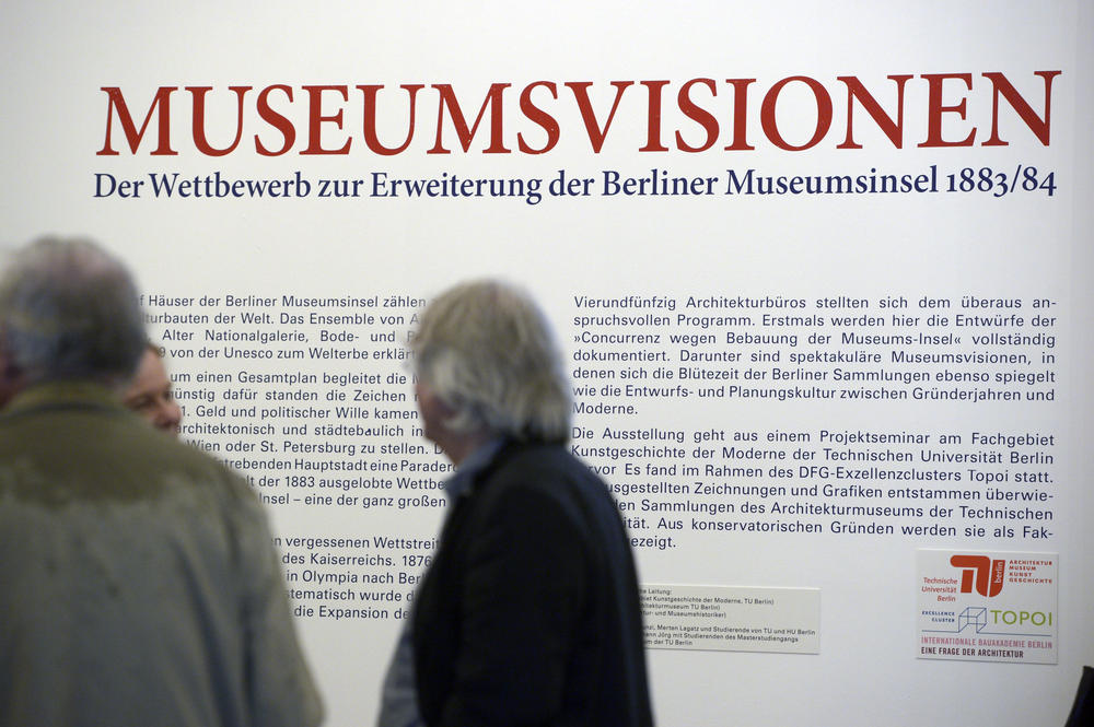 "… students were team members working on the ""Museum Visions"" exhibition, which focused on the plans for the new design of the Berlin Museum Island at the end of the 19th century."