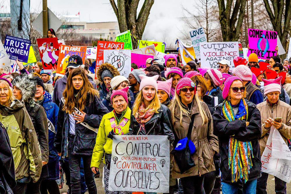 "The ""Women's March"" in January 2017."