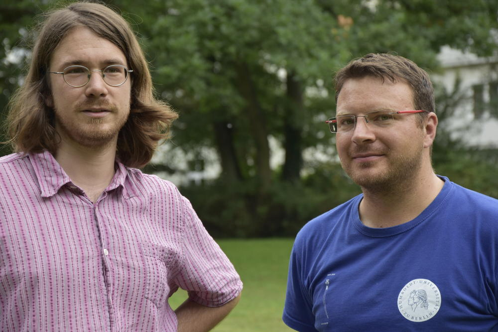 The researchers: Raphael Eser und Fabian Becker.