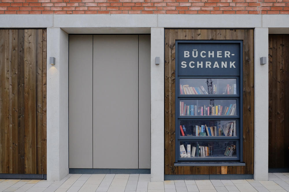 "Public  bookcases offer a chance to pass on books you have read and discover new works for free. They put a ""literary"" stamp on everyday life, which is a focus in one of Martus's current research projects."