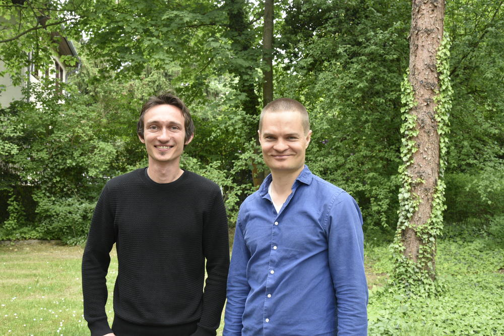 "Tassilo Weber and Roope Kärki presented their ideas for the ""Yolife"" app."