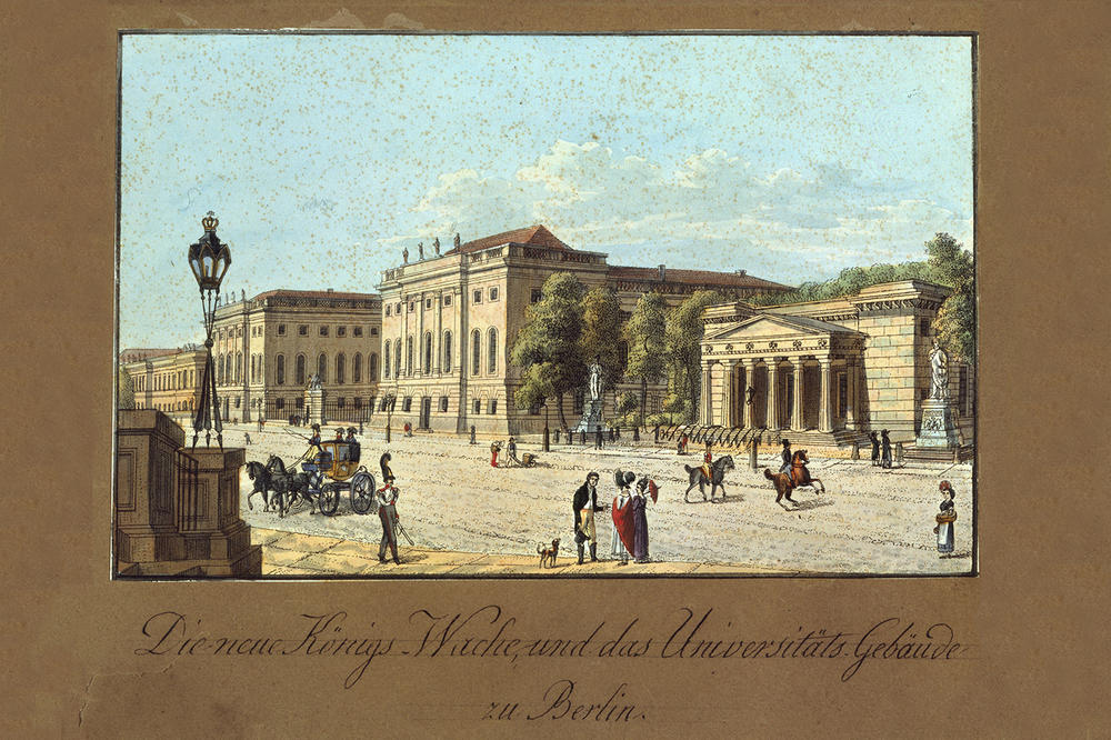In the 19th century, Berlin University moved into the Prinz-Heinrich-Palais, directly adjacent to the Neue Wache, which is still today the main building of Humboldt-Universität.