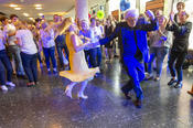 ... no more holding back!  Professor Karl Max Einhäupl, CEO of Charité, was quick to get on the dance floor with Astrid Lurati, Hospital Director.