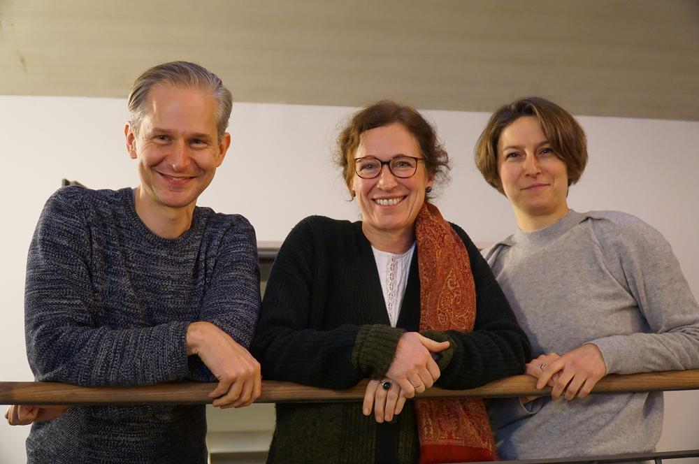 Ergonomist Markus Feufel, medical psychologist Friederike Kendel, and gynecologist Dorothee Speiser developed the consulting tool iKNOW. (from left to right)